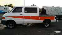 2000 Dodge RamVan 1 Ton One of a kind Van/Pickup, sold as is.