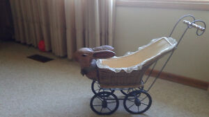 Antique Rabbit Head Doll Carriage