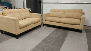 Urban Barn Couch+Loveseat Set