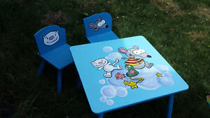 Hand painted Toopy and Binoo table & chairs