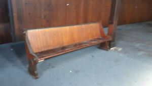 custom size Church pew up to 8 feet long