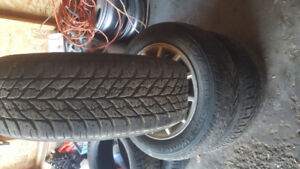 4 winter  tires on alloy  rims 195. 60.15 . from chevy optra