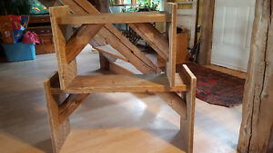 Rustic end table / bench