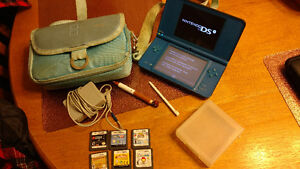DSi XL game with 6 games, 3 styls', and travel bag