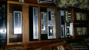Vintage silver faced stereo components