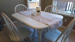 Dinning Table + 4 Chairs shabby chic Country white/ grey