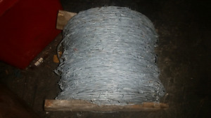 Large roll of barbed wire ( for Less than 1/2 price )