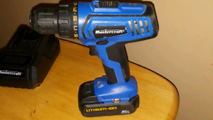 20v Mastercraft drill, battery and charger.