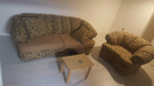 Beautiful floral couch and chair