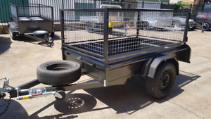 Excellent 7 * 4 Trailer with cage for HIRE, $35 p/d, 150 pw