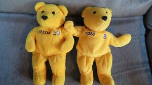 NBA teddy bears(Kobe,Jabbar)