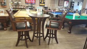**BRUNSWICK CENTENNIAL PUB TABLE AND STOOLS**