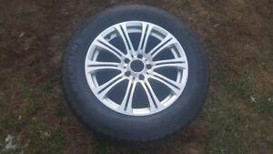 4 pneus d'hiver 255-55-18 Michelin Latitude Alpin HP + Mags BMW