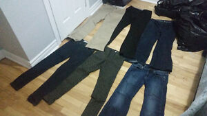 Various brand name womens jeans and dress pants