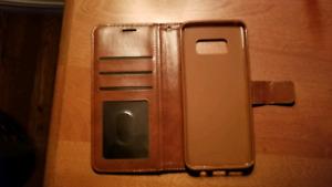 Étui En Cuir !Samsung Galaxy S8 ! Comme Neuf !