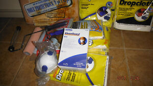 NEW PAiNTiNG SUPPLiES 3 ROLLERS , MATS , M10 MASKS,