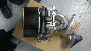 Intake Harley double carb. Rivera Chrome ''style weber'' RARE