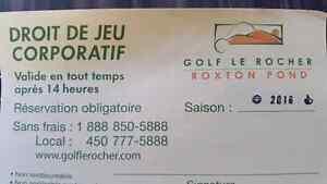 2 Droit de jeu Golf roxton pond