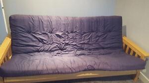 Solid wood futon excellent shape