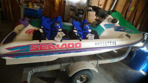 Selling jet Ski with trailer (good shape ) contact 2265066111