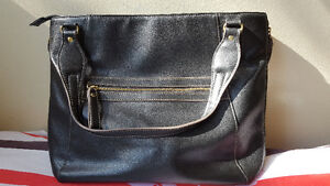 Black leather bag in excellent condition.