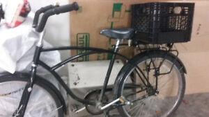 vintage style cruiser bike - woman's black colour