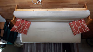 Will bargain/pine wood frame and mattress