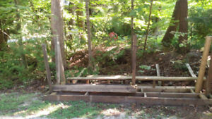 Wood crib for stacking firewood