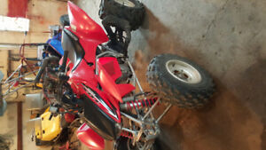 2008 TRX 450 R/1996 open cart 500cc