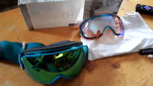 Smith I/os chromapop goggles with highlight and low light lenses