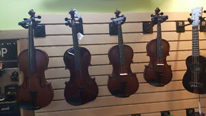 Violin Outfits, 1/2, 3/4 and 4/4 sizes, brand new