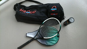 Raquette de tennis avec sac de transport
