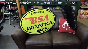 HARLEY  TRIUMPH NORTON BSA  AND INDIAN CYCLE SIGNS