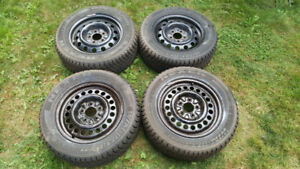 Four 215 60R15 Winter Tires with Rims