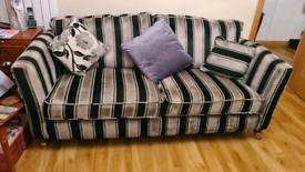 Grey/beige/Black stripped Sofa