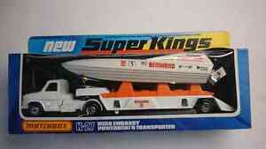 MATCHBOX SUPERKINGS K-27 POWERBOAT AND TRANSPORTER MINT!! 1978
