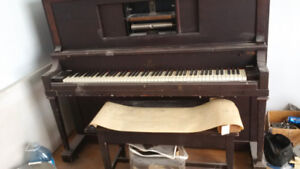 Player Piano Antique Willis Montreal 1926