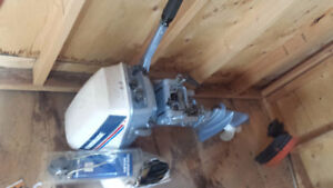 9.5 hp Evenrude boat motor- Barely used!