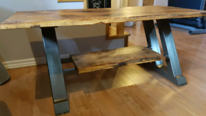 TV STAND WOOD/METAL HOME BUILT