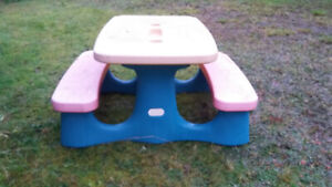 Child's Outdoor Picnic Table