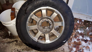 """F250 20"""" rims and tires"""
