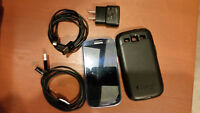Samsung Galaxy S3 with accessories