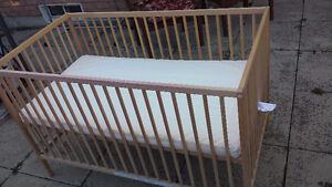 For sale: Very good condition Ikea baby crib with mattress
