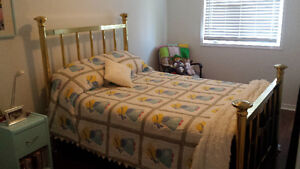 Antique Brass Bed - Double size Kitchener / Waterloo Kitchener Area image 1