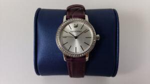 Swarovski Women's Graceful Mini Watch (Burgundy Leather)