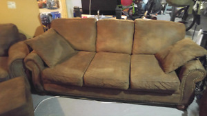 Cotton upholstered couch set in great condition.