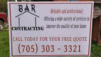 BAR Contracting - free quotes in town