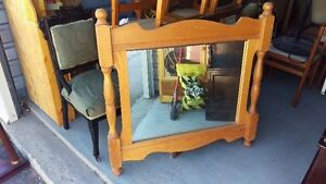 Solid Pine Wood Framed Wall Mirror Large