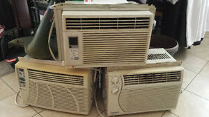 Three used air conditioners $25 a piece