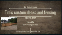 Fence post repairs Custom decks and fencing
